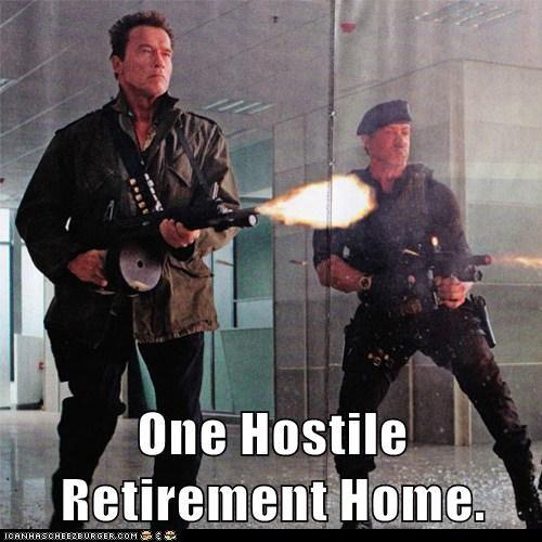 actor Arnold Schwarzenegger celeb funny Sylvester Stallone
