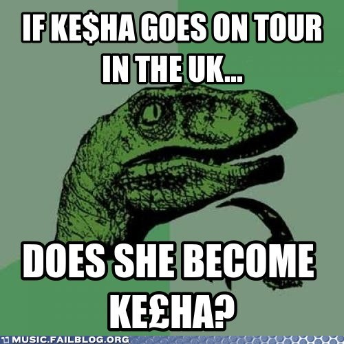 keha kesha money pound UK