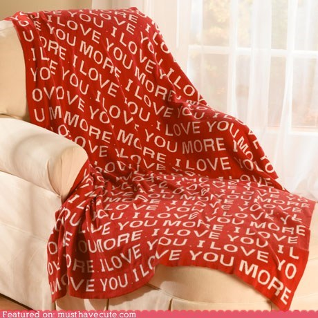 argue blanket i love you more message print - 6147535872