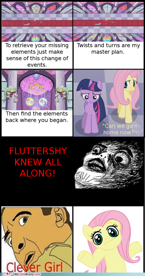 clever girl comic comics discord elements of harmony fluttershy i dunno lol - 6147542784