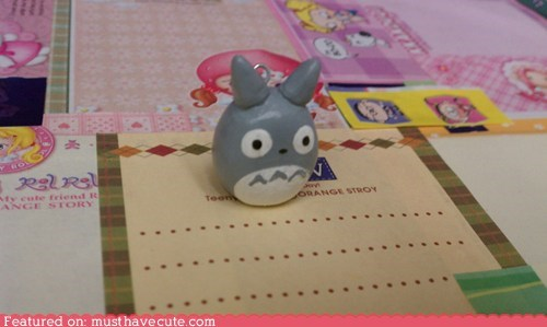 charm clay little miniature totoro