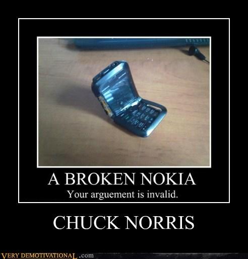 nokia,chuck norris,broken,funny