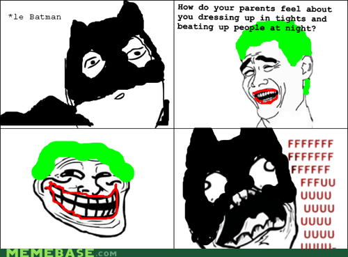 batman,fu guy,parents,Rage Comics