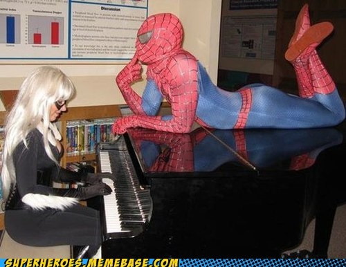 black cat costume piano romance sexy times Spider-Man Super Costume - 6148404736
