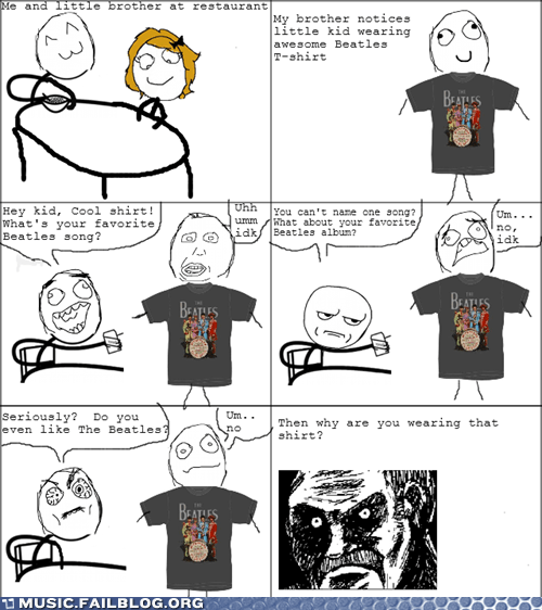 band shirt beatles comic rage comic the Beatles - 6148539648