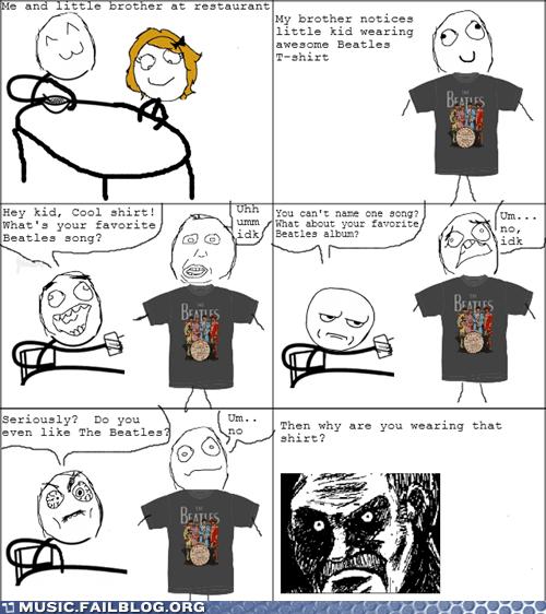band shirt beatles comic rage comic the Beatles - 6148539648