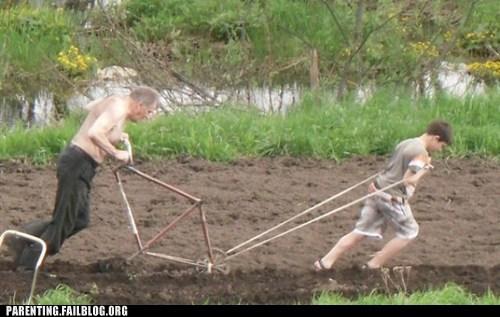 child labor hoeing yard work - 6148863232
