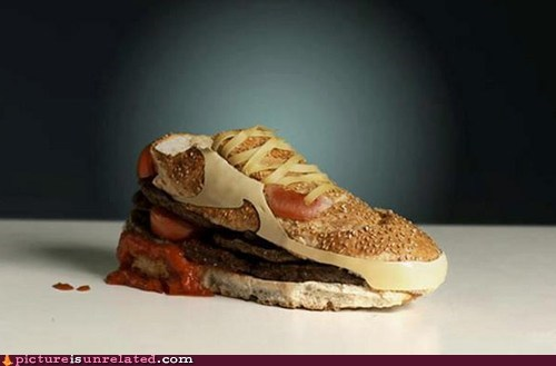 burger food shoes wtf - 6148928768
