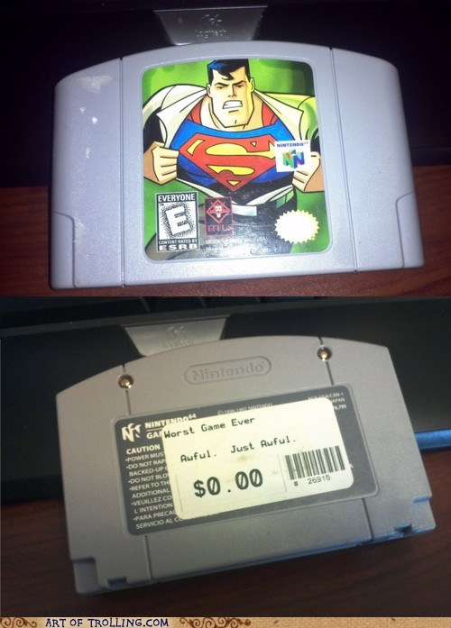 horrible,IRL,n64,superman,video game
