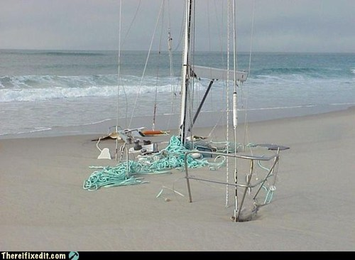 aground,beach,boat,captain,g rated,ocean,ran aground,run aground,sailing,sea,ship,summer fails,there I fixed it