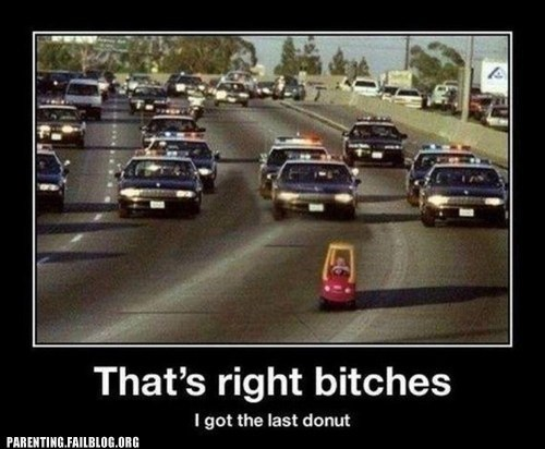 baby cops getaway highway police chase - 6149356032