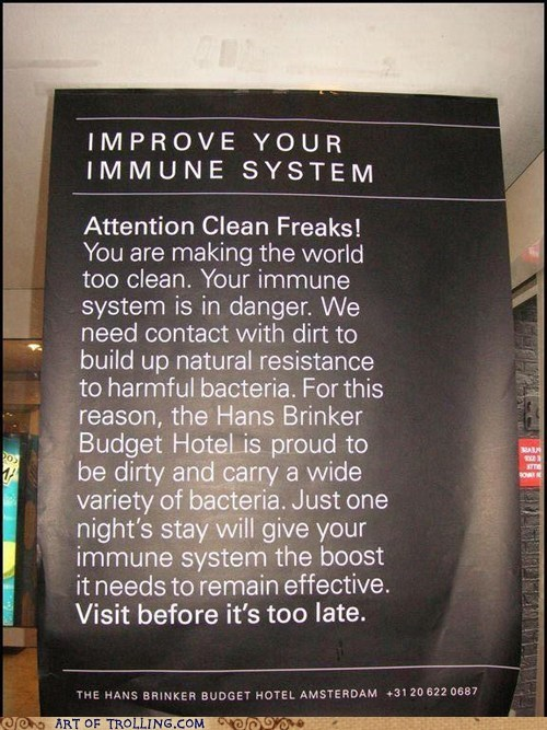 clean hotel immune system IRL sign wtf - 6149419520