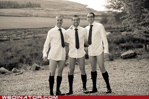 funny wedding photos groom Groomsmen men no pants - 6149425664