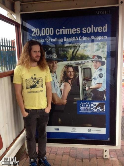 advertisement arrest coincidence cop safety
