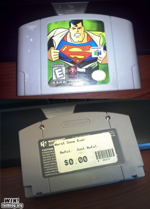 nintendo 64 super heroes superman video games - 6149469952