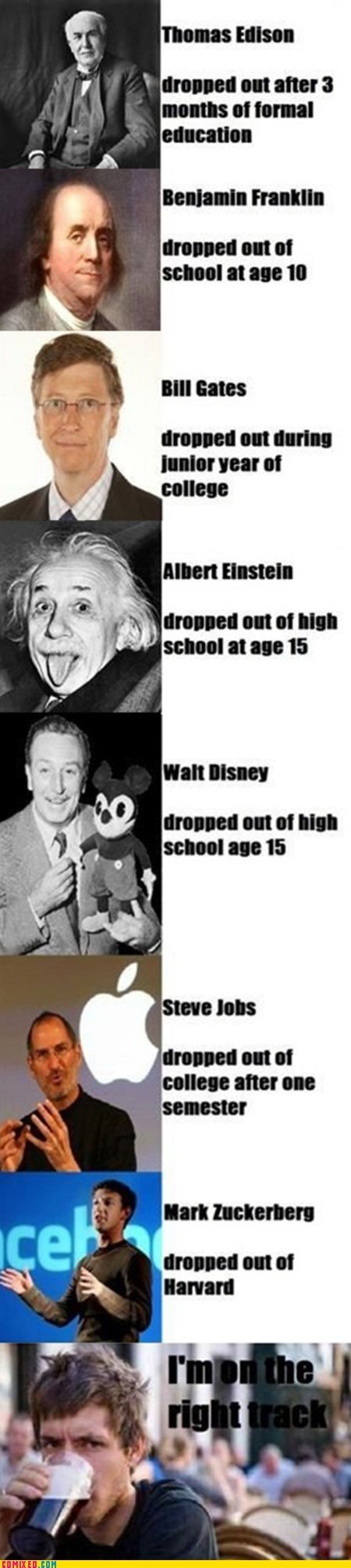 Bill Gates,drop out,einstein,inventor,steve jobs,the internets,walt disney