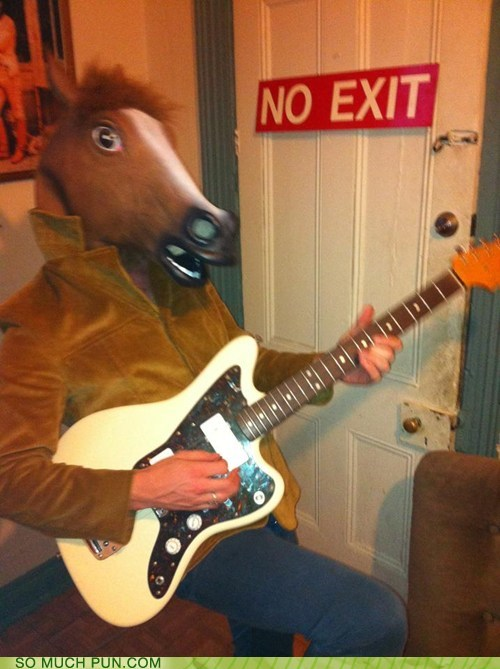 double meaning,guitar,horse,literalism,rock,rocking,rocking horse