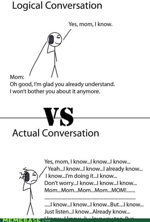 conversation,laura,logic,mom,Rage Comics