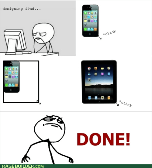 apple click ipad iphone Rage Comics