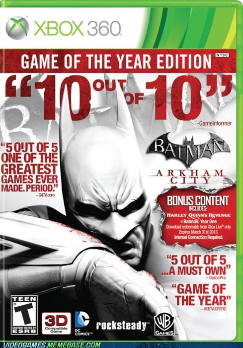 arkham city batman box art numbers rocksteady the feels xbox - 6149841408