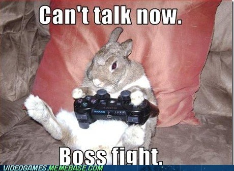boss fight dafuq not now mom rabbit Sony the internets