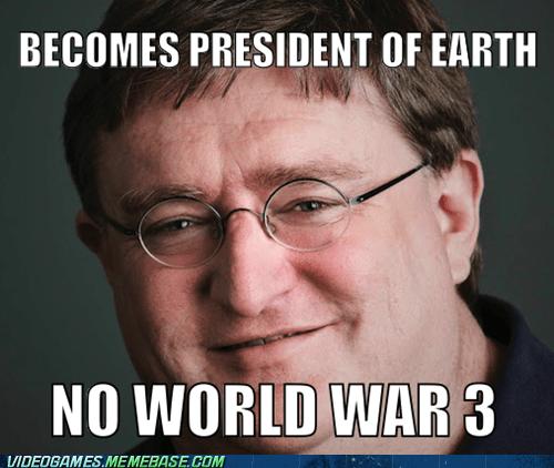 gabe newell,half life,meme,president newell,valve