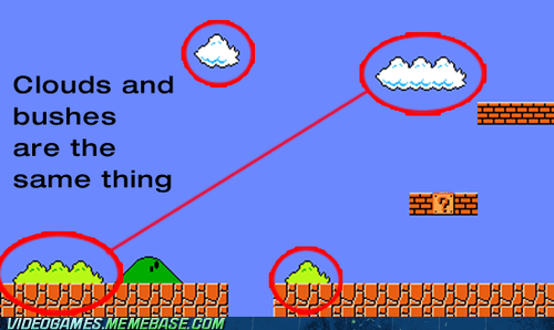bushes cannot unsee clouds mario same thing - 6150011392