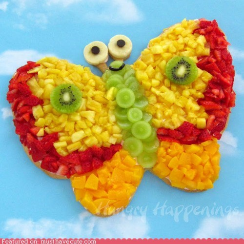 butterfly epicute fruit pizza snack - 6150149632