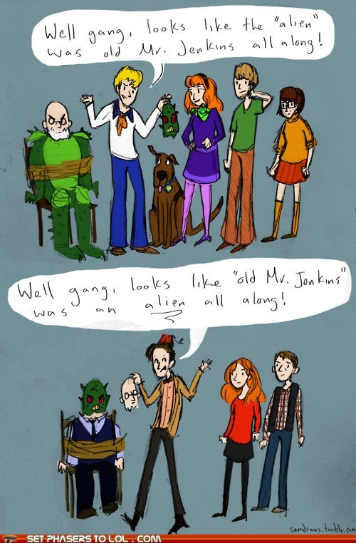 alien amy pond best of the week comparison daphne doctor who fred mask rory williams scooby doo shaggy the doctor twist velma - 6150206976