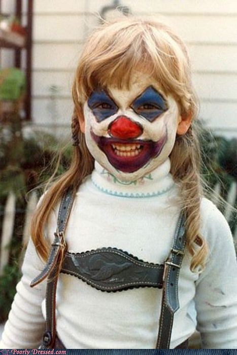 children,clown,makeup,scary