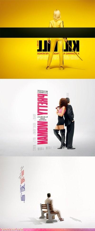 art,Forrest Gump,funny,Kill Bill,Movie,poster,pretty woman