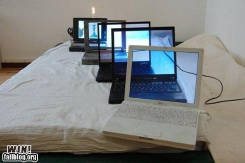 clever laptop recursion wallpaper - 6150457344