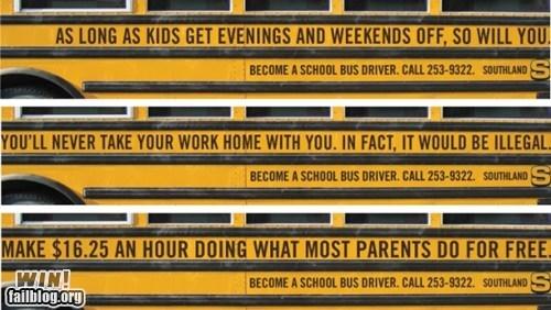 advertisement bus bus driver clever school bus work - 6150458624