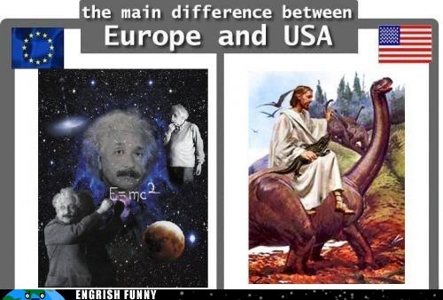 america christianity einstein europe evolution intelligent design jesus religion science usa