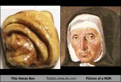 food funny honey bun nun TLL