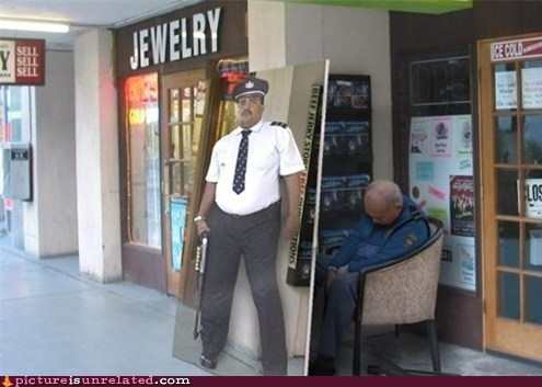 laziness mall cop seems legit wtf - 6150825216
