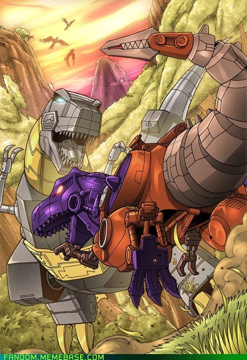 Beast Wars Megatron,cartoons,dinosaurs,Fan Art,grimlock