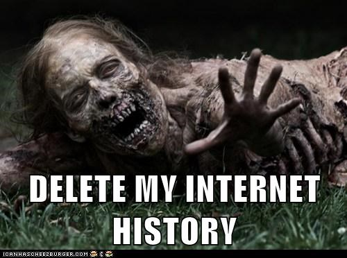 begging,delete,dying,internet history,The Walking Dead,zombie