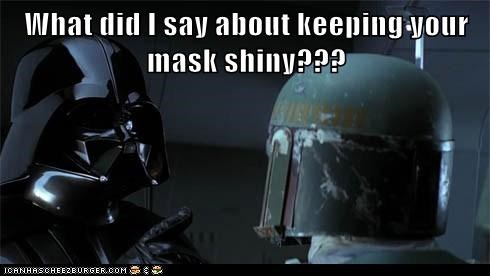 boba fett darth vader mask may the fourth shiny star wars Star Wars Day - 6151318272