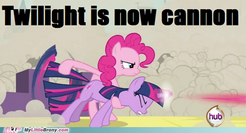 cannon canon meme pinkie pie twilight sparkle - 6151451136