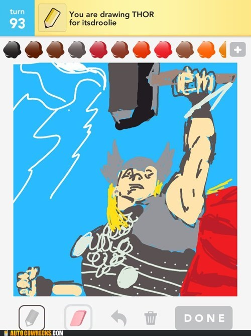 draw something superheroes The Avengers Thor - 6151667456