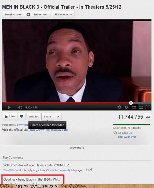men in black racism will smith youtube