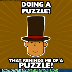 ds,meme,professor layton,puzzle,puzzles everywhere