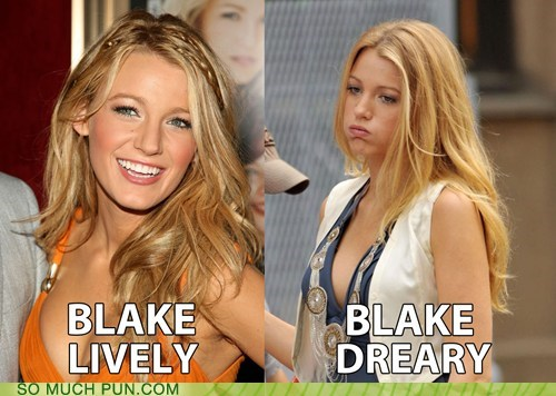 blake lively dreary expression face literalism lively mood surname