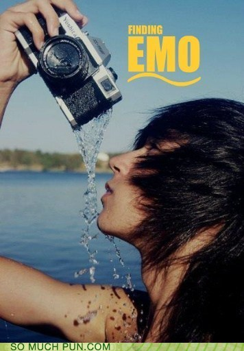 emo,emo kid,finding nemo,literalism,Photo,posing,similar sounding