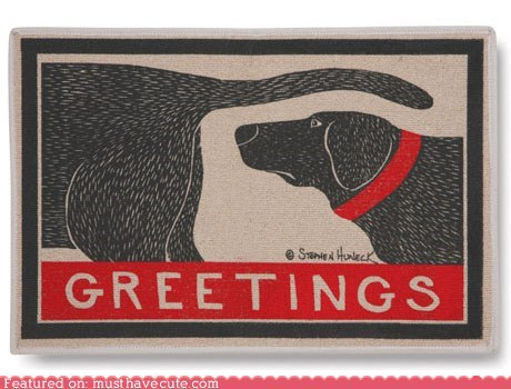butt dogs doormat greetings sniff - 6152098304