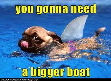 best of the week Bigger Boat boats costume dogs Hall of Fame jaws movies pug shark sharks - 6152183552