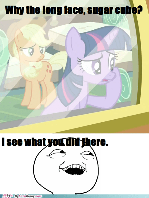 applejack I see what you did there sugarcube TV twilight sparkle - 6152413184