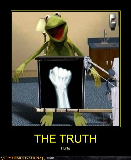 fist hand hilarious kermit wrong place x ray