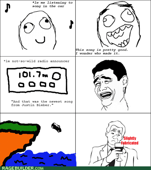 justin bieber Music Rage Comics slightly fabricated - 6152923392